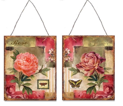 Immagine di QUADRETTO ROSE LATTA 2ASS. CM.25X33