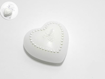 Picture of CANDELA CUORE DIAM.6 X 6 X H.3 CM. COL. BIANCO