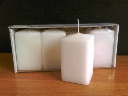 Picture of CANDELE CUBICHE 100/60/60 BLISTER DA  4 PZ.