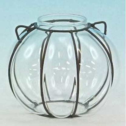 Picture of GLASS BALL W/IRON D.15 X H.13,5