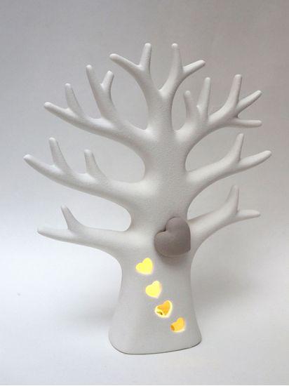 Picture of ALBERO DELLA VITA CON LED CM.20,5 BIANCO C/GIFT BOX