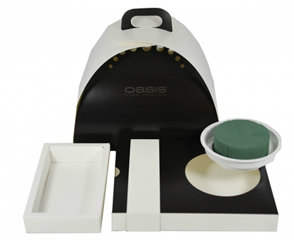 Immagine di OASIS ® FLOXI colore uni nero / bianco 22,5x17,5x3,2 cm.