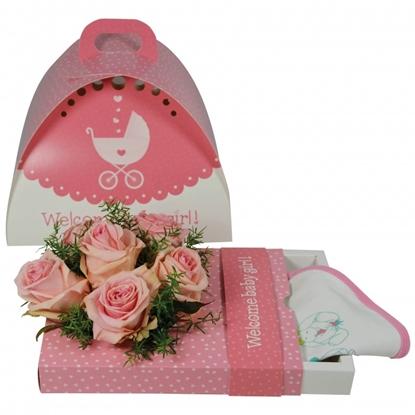 Immagine di OASIS® floxi uni color welcome babygirl 22,5x17,5x3,2 cm.