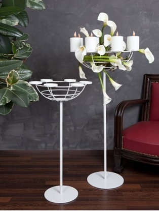 Picture of CANDELABRO 8 FIAMME H105 BIANCO