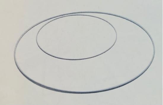 Immagine di Metal ring 80cm white
