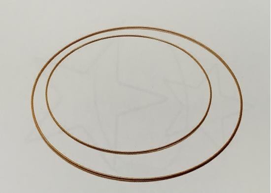 Immagine di Metal ring 30cm gold