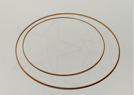 Picture of Metal ring 80cm gold