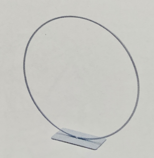 Picture of Metal ring on base  25cm white