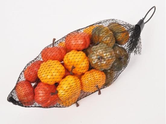 Picture of Zucche in rete 24pz 3cm 5cm