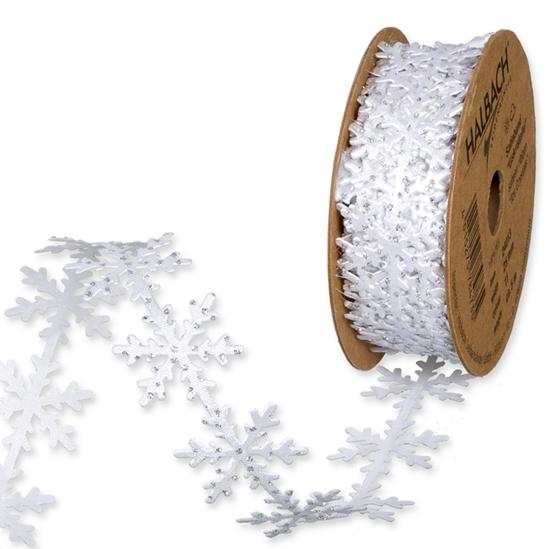 Immagine di Nastro in raso fustell. cristalli di ghiaccio mm 25 x 5 mt.