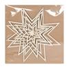 Picture of Appendino in legno 3D stella Ø circa 18,5 cm + 21 cm